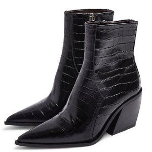 Topshop Honour Pointed Toe Western Boot